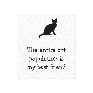 The entire cat population is my best friend canvas print