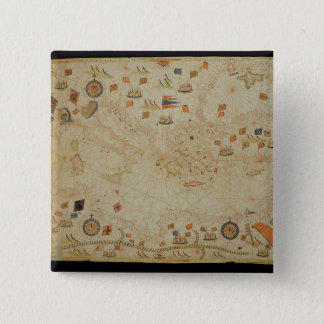 The entire Mediterranean Basin 15 Cm Square Badge