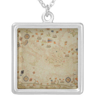 The entire Mediterranean Basin Silver Plated Necklace