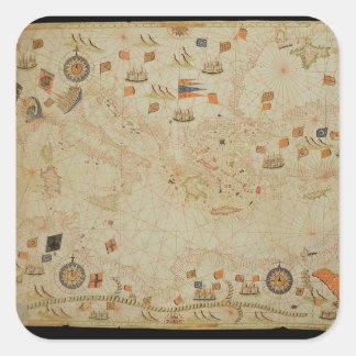 The entire Mediterranean Basin Square Sticker