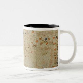 The entire Mediterranean Basin Two-Tone Coffee Mug