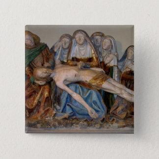 The Entombment, 1490 (painted stone) (detail) 2 15 Cm Square Badge