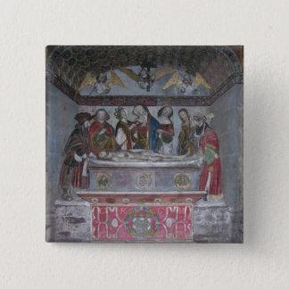 The Entombment, c.1523 (painted stone) 15 Cm Square Badge