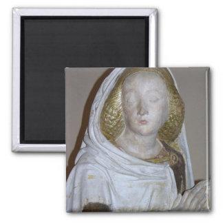 The Entombment, detail of a female saint, 1490 (pa Magnet