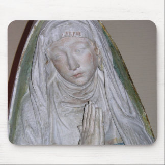 The Entombment, detail of a female saint praying, Mouse Mat
