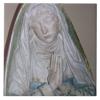 The Entombment, detail of a female saint praying, Tile