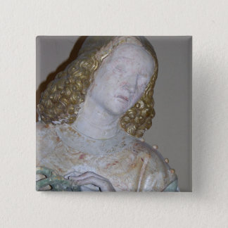 The Entombment, detail of a saint holding the crow 15 Cm Square Badge