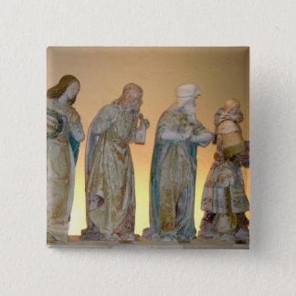 The Entombment, detail of saints, 1490 (painted st 15 Cm Square Badge