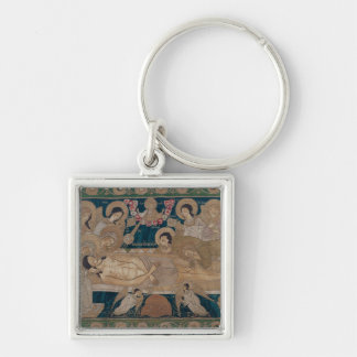 The Entombment, Moscow School, 1678 Silver-Colored Square Key Ring