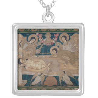 The Entombment, Moscow School, 1678 Square Pendant Necklace