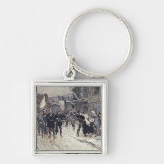 The Entrance into Belfort of the German Commander Silver-Colored Square Key Ring
