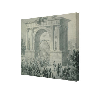 The entrance of French troops to A'Osta Canvas Print