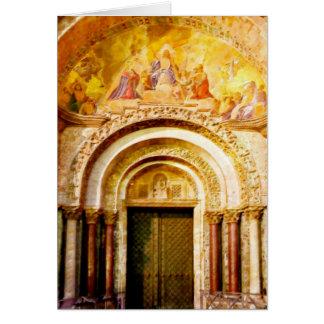 The Entrance of Saint Mark's Basilica in Venice Card