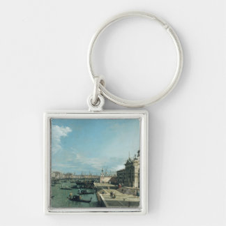 The Entrance to the Grand Canal Silver-Colored Square Key Ring