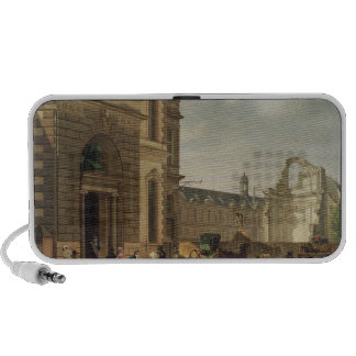 The Entrance to the Musee de Louvre and St Notebook Speakers