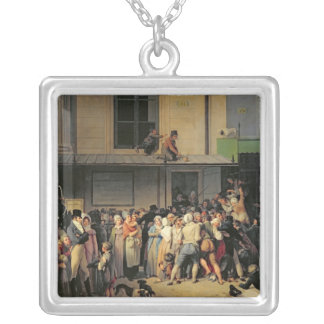 The Entrance to the Theatre de l'Ambigu-Comique Silver Plated Necklace