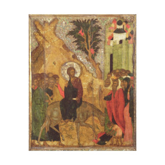 The Entry into Jerusalem, Moscow School Stretched Canvas Print