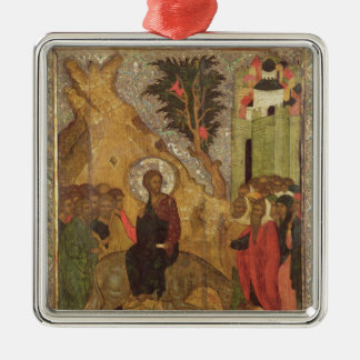 The Entry into Jerusalem, Moscow School Silver-Colored Square Decoration