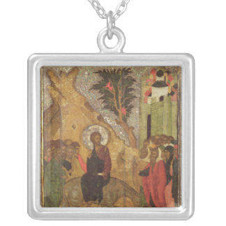 The Entry into Jerusalem, Moscow School Silver Plated Necklace