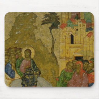 The Entry into Jerusalem, Russian icon Mouse Mat