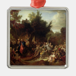 The Entry of Christ into Jerusalem, c.1720 Silver-Colored Square Decoration