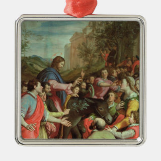 The Entry of Christ into Jerusalem Silver-Colored Square Decoration