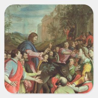 The Entry of Christ into Jerusalem Sticker