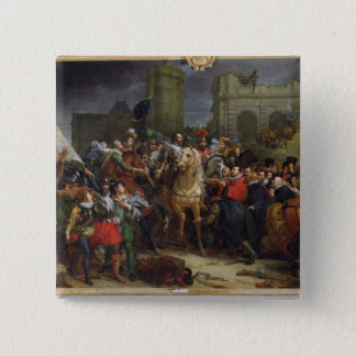 The Entry of Henri IV  into Paris 15 Cm Square Badge