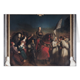 The Entry of Joan of Arc  into Orleans Card