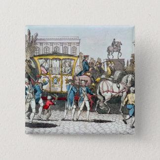 The Entry of Louis XVI  into Paris 15 Cm Square Badge