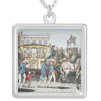 The Entry of Louis XVI  into Paris Silver Plated Necklace