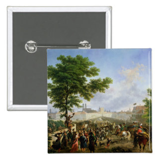 The Entry of Napoleon Bonaparte 15 Cm Square Badge