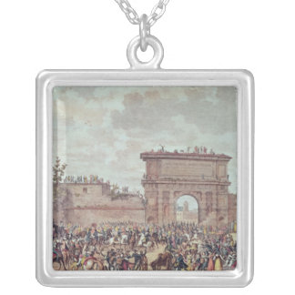 The Entry of the French into Milan Silver Plated Necklace