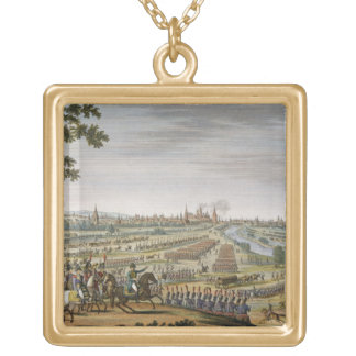 The Entry of the French into Moscow, 14 September Square Pendant Necklace