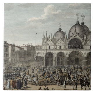The entry of the French into Venice and the theft Tile