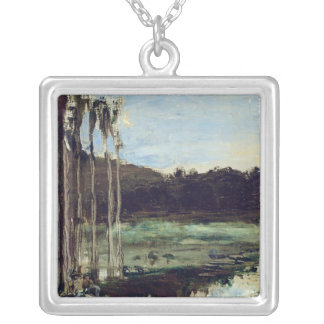 The Environs of Etampes Silver Plated Necklace