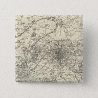 The Environs Of Paris 15 Cm Square Badge