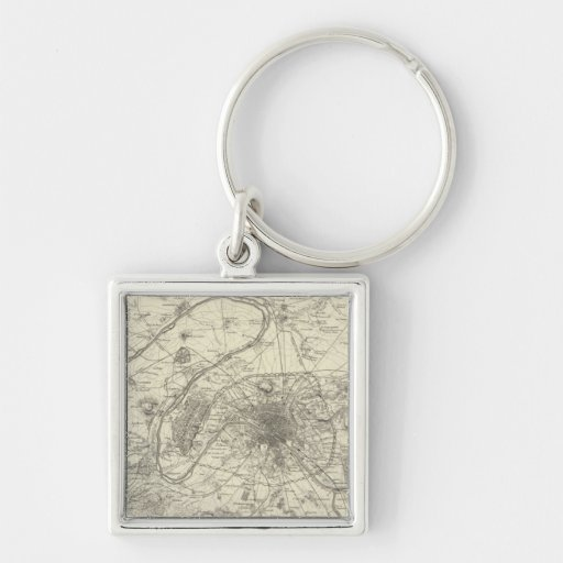 The Environs Of Paris Keychain