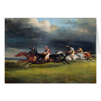 The Epsom Derby, 1821 Greeting Card