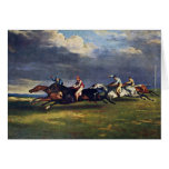 The Epsom Derby By Géricault Jean Louis Théodore ( Greeting Cards