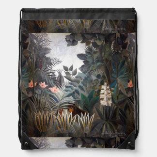 The Equatorial Jungle Drawstring Bag