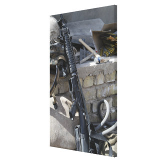 The equipment of a Marine Canvas Print
