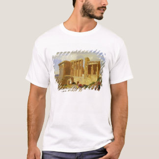 The Erechtheum, Athens, with Figures in the Foregr T-Shirt