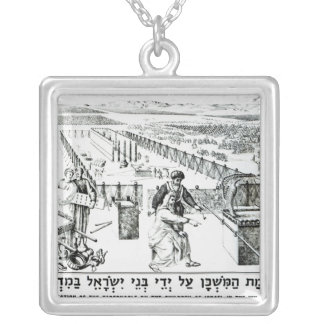 The Erection of the Tabernacle Silver Plated Necklace
