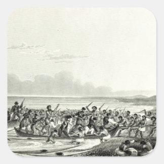 The Eskimoes Pillaging the Boats Square Sticker
