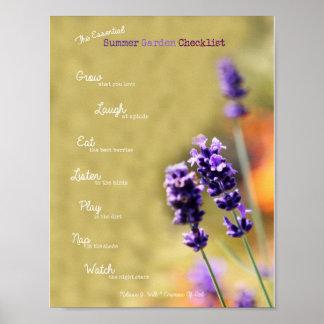 The Essential Summer Garden Checklist Poster