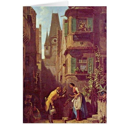 The Eternal Bridegroom By Carl Spitzweg Greeting Cards