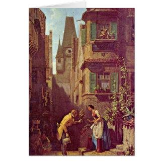 The Eternal Bridegroom By Carl Spitzweg Greeting Card