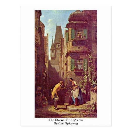 The Eternal Bridegroom By Carl Spitzweg Postcard