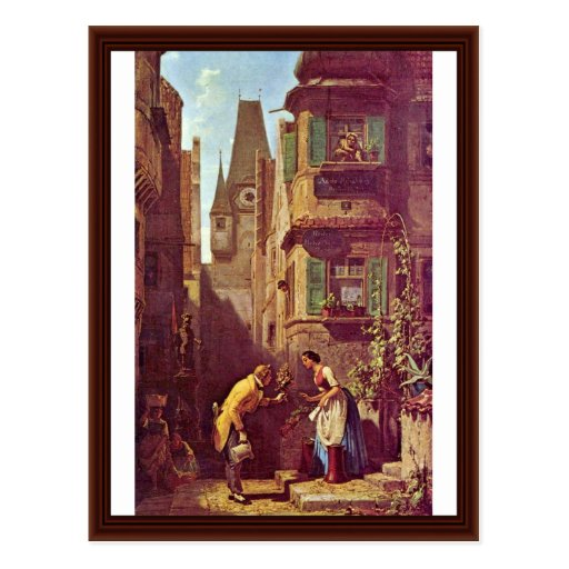 The Eternal Bridegroom By Spitzweg Carl Postcard
